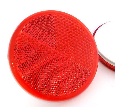 2x Adesivo Adesive Rosso Rotondo Circolare Rimorchio Caravan Riflettori 60mm-