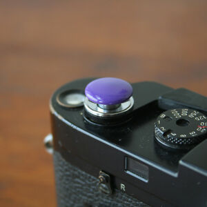 Purple Standard Large Soft Release Button f/ Leica M3 M4 M6 MP M8 M9 Nikon Canon