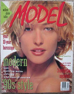 MODEL mag 1990 TATJANA PATITZ Ashley Richardson K.D. Lang Willem Dafoe