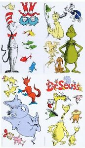 DR-SEUSS-22-Big-Wall-Decals-Nursery-Room-Decor-Stickers-LORAX-CAT-HAT-THING-1-2