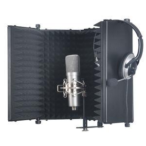 studio microphone diffuser isolation sound absorber foam panel shield stand mic ebay. Black Bedroom Furniture Sets. Home Design Ideas