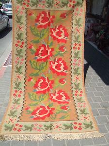 special original romanian kilim antique hand woven 245x120 cm ebay. Black Bedroom Furniture Sets. Home Design Ideas