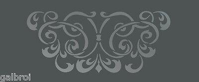 LARGE WALL DAMASK STENCIL PATTERN FAUX MURAL DECOR #1016 (Choose Custom Size)