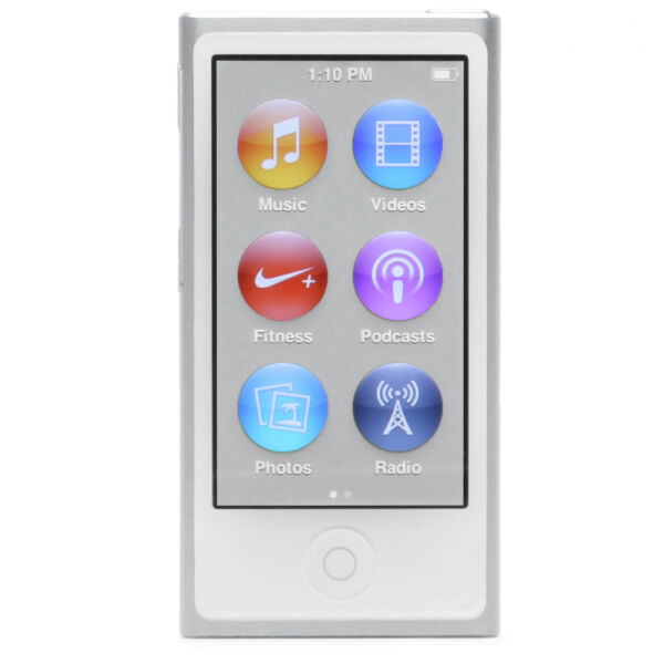 apple ipod nano 7th generation silver 16 gb for sale. Black Bedroom Furniture Sets. Home Design Ideas