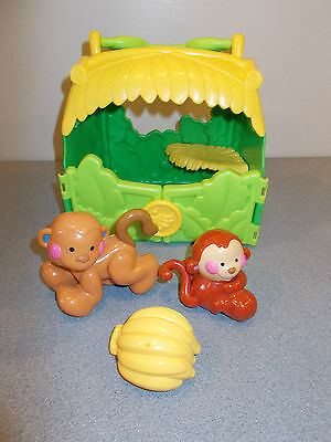 Fisher Price Monkey/Banana House with monkeys and bananas