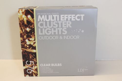 In Colour Choice Outdoor NEW 576 Bulb Multi Action Cluster Fairy Lights