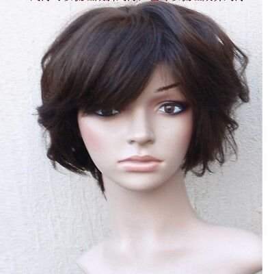 New fashion women lady s full wig wigs hairpiece,100% real natural human hair809