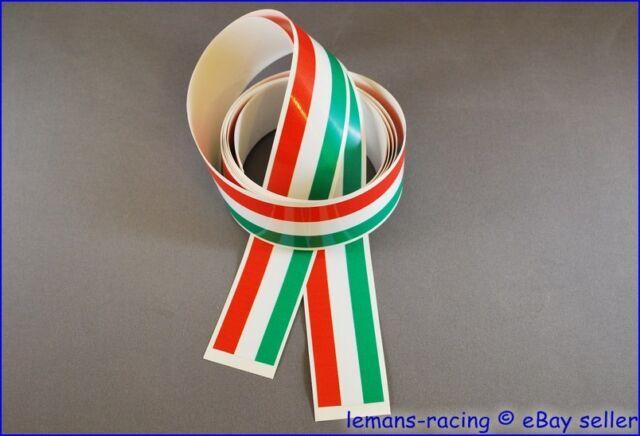 1400x27mm 2 pcs Italian Flag Stripes Stickers Decals Tape APRILIA VESPA BENELLI