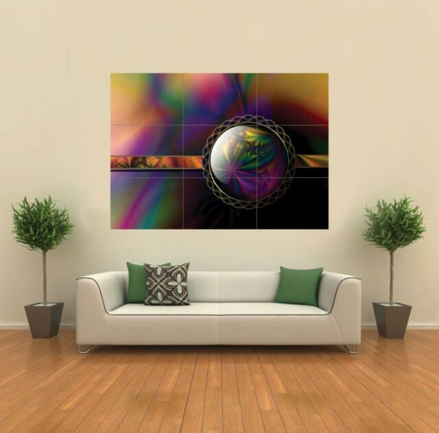FRACTAL ABSTRACT PURPLES GIANT PRINT PICTURE G132