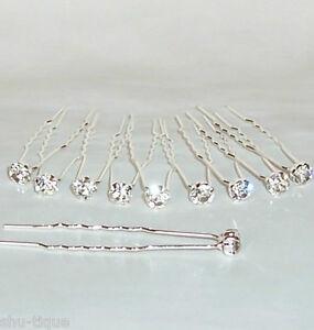 NEW-10-SILVER-COLOUR-HAIR-PINS-0-8-cm-DIAMANTE-HEAD-WEDDING-BRIDAL-PROM-WOMENS