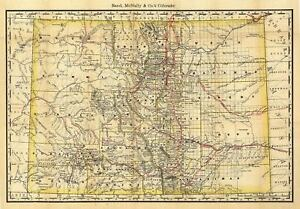 24x36-Vintage-Reproduction-Railroad-Train-Historic-Map-Colorado-1879