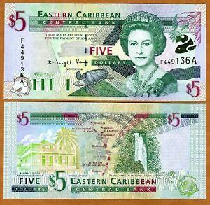 Eastern-East-Caribbean-5-2000-Antigua-P-37a-UNC