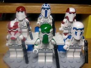 Lego-Star-Wars-Snowtroopers-Rex-Gree-Ponds-Denal-Bly-Keeli-with-Snow-Speeder