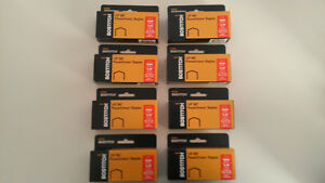 Lot-of-8-boxes-of-Stanley-Bostitch-B8-Power-Crown-Staples-1-4-034-for-B8-stapler