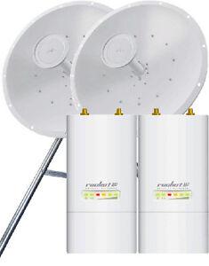 UBIQUITI-RocketDish-5Ghz-30dbi-AirMax-2x2-ROCKET-M5-PtP-Bridge-KIT-ROCKET-KIT