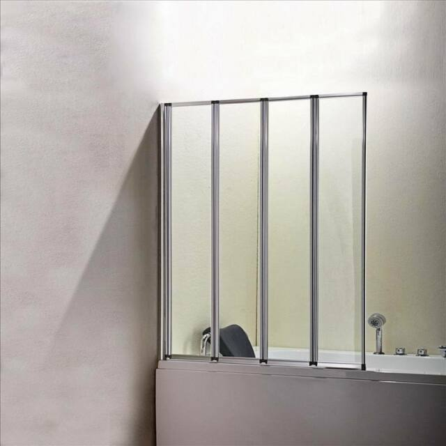 1/2/3/4/5 Folds Folding Chrome Bath Shower Screen Bathroom Glass Door Panel FFXX