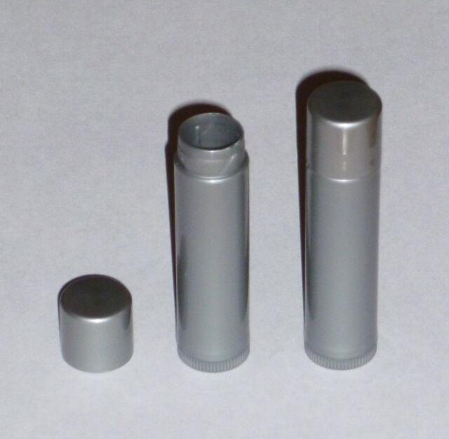 50 NEW Empty Dark Silver LIP BALM Chapstick Tubes Containers - .15 oz/5ml NO BPA