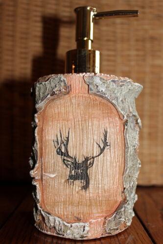 Decorator Bathroom Decor Log Cabin Deer White Birch Nature Accent ...