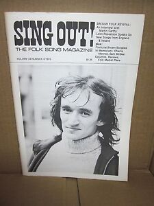 SING-OUT-Folk-Song-Magazine-1975-Martin-Carthy-amp-Sam-McGee-OG