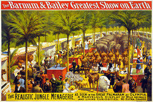 Vintage-Circus-POSTER-Barnum-Baileys-Tent-Art-Decor-Interior-design-727