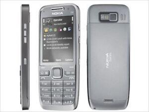 NEW-UNLOCKED-NOKIA-E52-3G-GPS-CELL-PHONE-SILVER