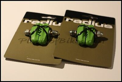 4 Green Radius Bike Bicycle Fixie Road Brake Caliper Rubber Pad Pads Set 321108