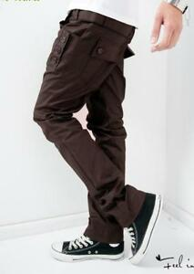 2d2682cf0c9 Image is loading NEW-Styles-Mens-Casual-Trousers-Black-Grey-Brown-