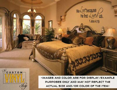 1 John 4:19 Bible Verse - Vinyl Wall Decal Sticker