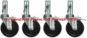 A-set-of-4-Scaffolding-Rolling-Tower-5-MFS-Square-Stem-Wheels-CBM