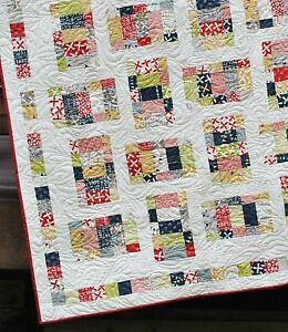 Easy Quilt Patterns Using Layer Cakes : QUILT PATTERN Layer Cake, Jelly Roll or Fat Quarters Quick and Easy 2 sizes