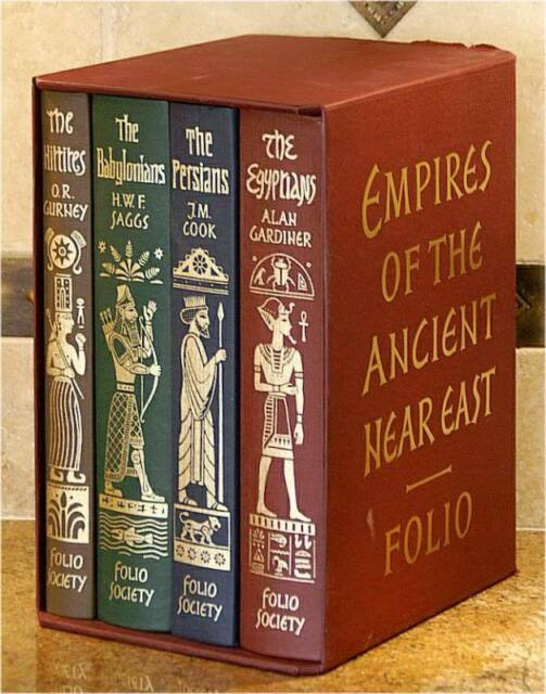 EMPIRES OF THE ANCIENT NEAR EAST ~ FOLIO SOCIETY ~ 4 VOLUME GIFT SET ~ NEW!!