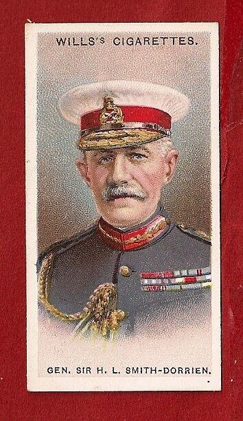 Gen Sir H L SMITH DORRIEN GCMG Sherwood Foresters 1917 original card