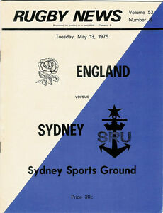 ENGLAND-1975-RUGBY-TOUR-PROGRAMME-v-SYDNEY-13th-May-at-Sydney