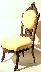 c1870-Egyptian-Revival-Victorian-chair-rosewood-lady-Pottier-Stymus-NYC