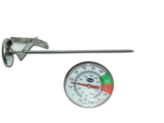 """Professional Dairy Thermometer- with Pan Clip- 7"""" probe"""