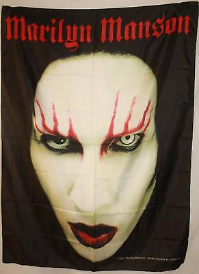 MARILYN MANSON Headshot Head Shot Cloth Poster Flag Fabric Textile Tapestry-New