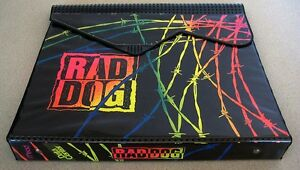Vintage-1980-039-s-Mead-Neon-Rad-Dog-Trapper-Keeper-Data-Center-Great-Condition-RARE