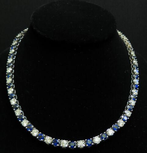 █$95000 18KT 33.68CT NATURAL TOP GEM SAPPHIRE DIAMOND NECKLACE BEST ETERNITY █