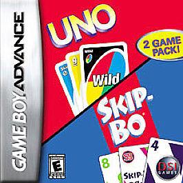 UNO / SKIP-BO Gameboy Advance / Micro / Sp games COMPLETE! Boxed Rare Low Cost