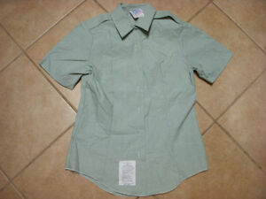 ARMY-SHORT-SLEEVE-SHIRT-WOMAN-TUCK-IN-GREEN-SZ-8R-34-5