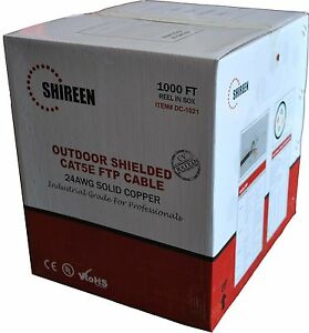 Outdoor Shielded Cat5 Cat5e Cat 5 Ftp Cable 1000 39 24awg