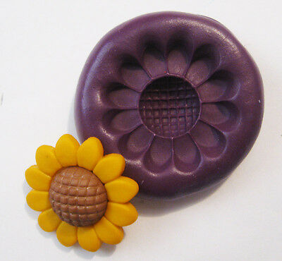 sunflower flower Silicone Push Mold Polymer clay Resin Miniature plaster mould