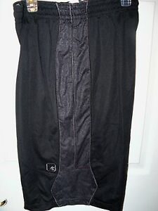 AND1-Basketball-Shorts-Black-Pattern-Logo-Mens-Size-Large-NWT-485