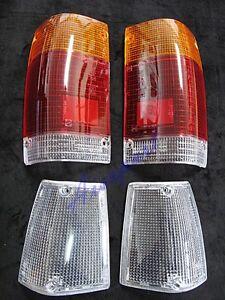 set clear corner tail light lenses pair for mazda bravo. Black Bedroom Furniture Sets. Home Design Ideas