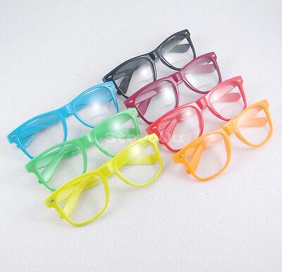 Vintage Retro Style Clear Lens Nerd Geek Fashion Eyeglasses Sunglasses