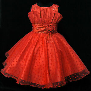 Kids Girl Reds Christmas Pageant Outfit Girls Dresses AGE SIZE 2-3 ...