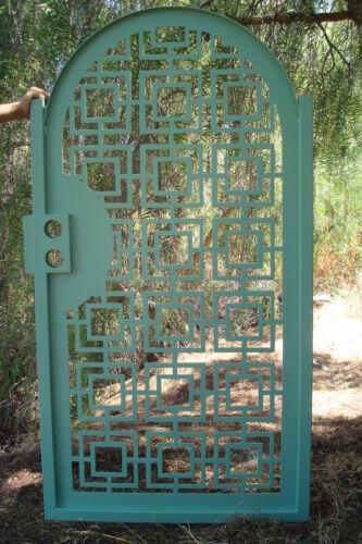 Contemporary Metal Gate Iron Steel Ornamental Garden Art Entry Made in USA 3 x 6