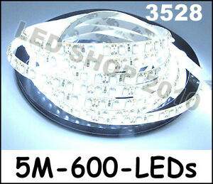 5M-Car-Cool-White-3528-SMD-LED-Waterproof-Flexible-Strip-12V-600-LEDs