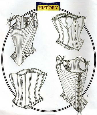 Butterick B4254 SEWING PATTERN 6-10 Medieval/Gothic Boned Stays Corset Wedding
