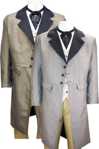 Victorian Mens Suits & Coats  Old West Frock Coat Dickens Steampunk SASS  $119.00 AT vintagedancer.com